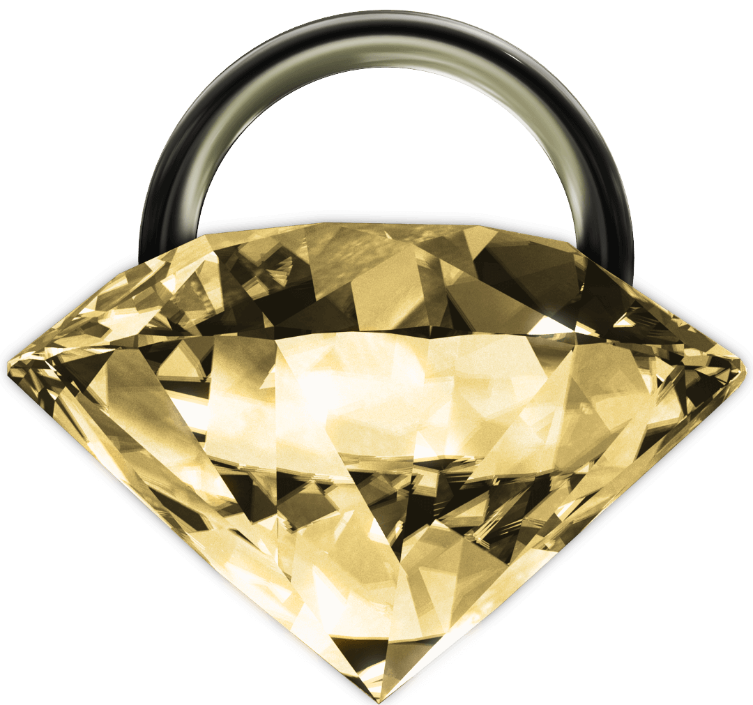 Diamond looking lock